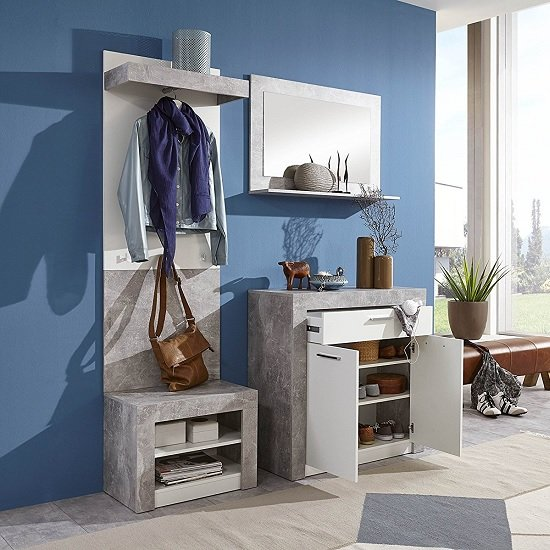 Midas Wooden Shoe Storage Cabinet In Light Atelier And White_4
