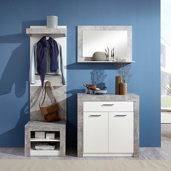 Midas Wooden Shoe Storage Cabinet In Light Atelier And White_5