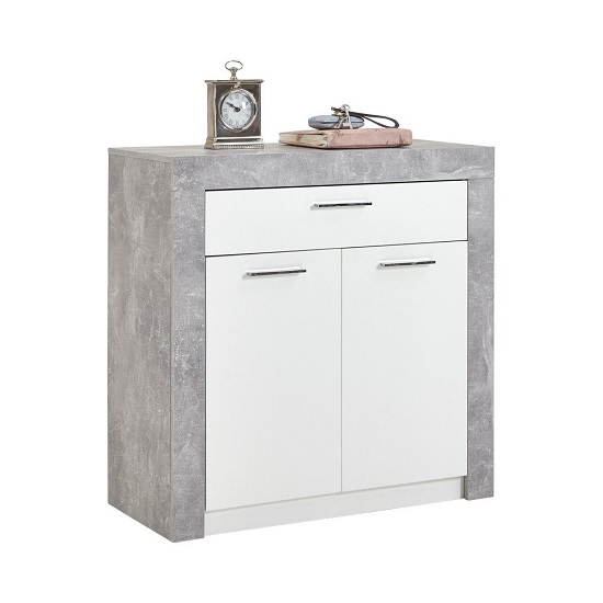Midas Wooden Shoe Storage Cabinet In Light Atelier And White_1