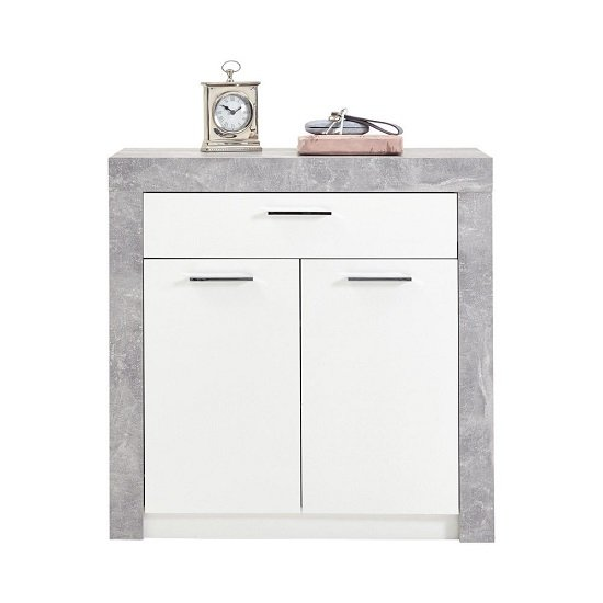 Midas Wooden Shoe Storage Cabinet In Light Atelier And White_3
