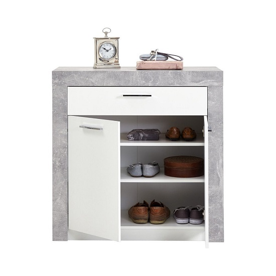 Midas Wooden Shoe Storage Cabinet In Light Atelier And White_2