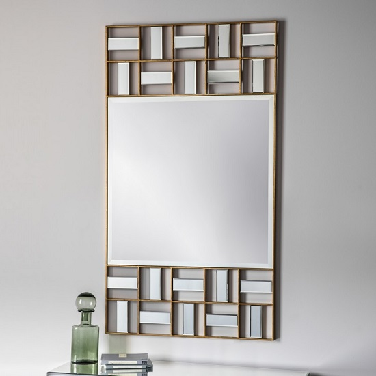 Middleton Wall Mirror Rectangular In Metal Frame