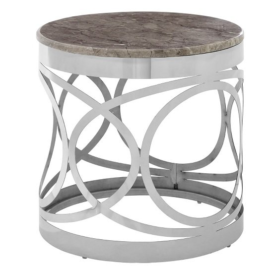 Midtown Marble Side Table With Stainless Steel Base