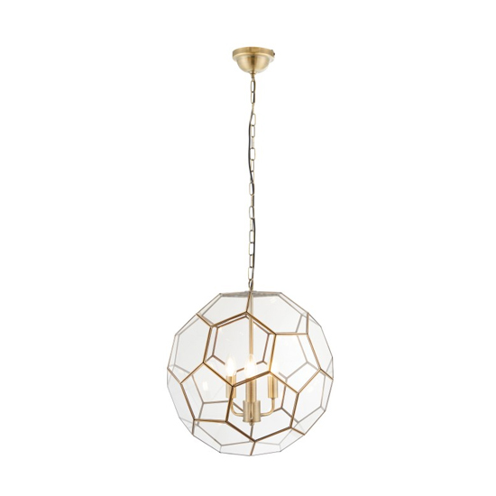 Miele Wall Hung 3 Pendant Light In Antique Brass