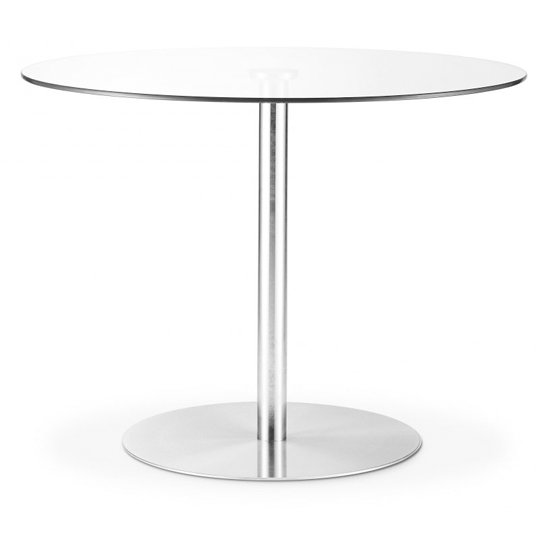 Milan Round Glass Dining Table With Chrome Pedestal