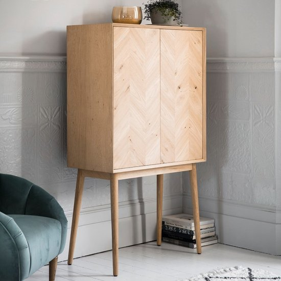 Milano Cocktail Cabinet In Mat Lacquer With 2 Doors