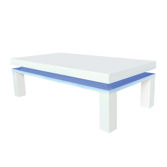 Milano Wooden Coffee Table In High Gloss White