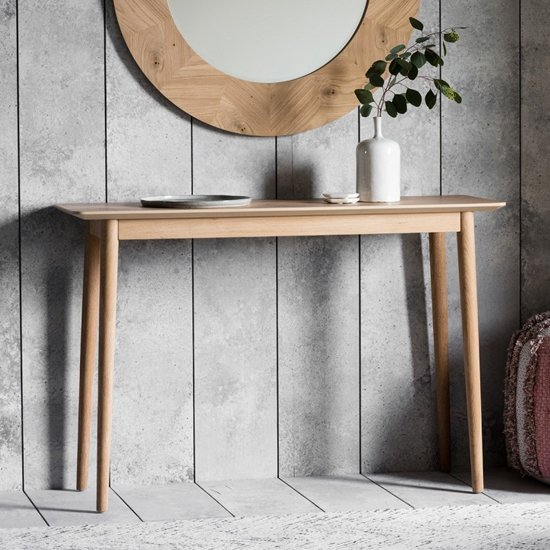 Milano Wooden Console Table In Mat Lacquer
