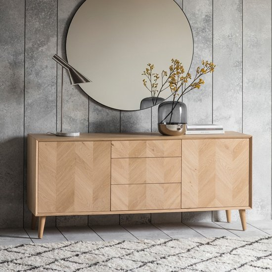 Milano Wooden Sideboard With 2 Doors And 3 Drawers
