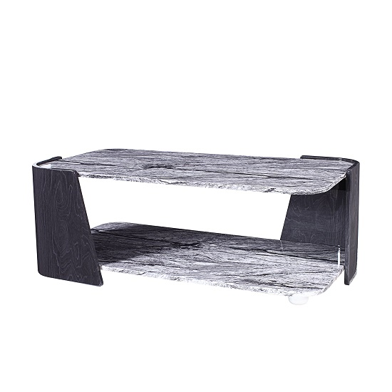 Miley Coffee Table In Slate Grey And Marble Effect High Gloss_1