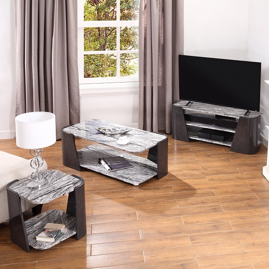Miley Coffee Table In Slate Grey And Marble Effect High Gloss_2