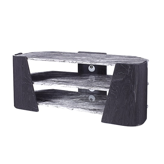 Miley TV Stand In Slate Grey And Marble Effect High Gloss_1