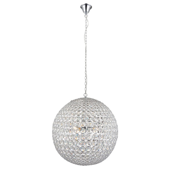 Miley Wall Hung 4 Pendant Light In Clear Crystal