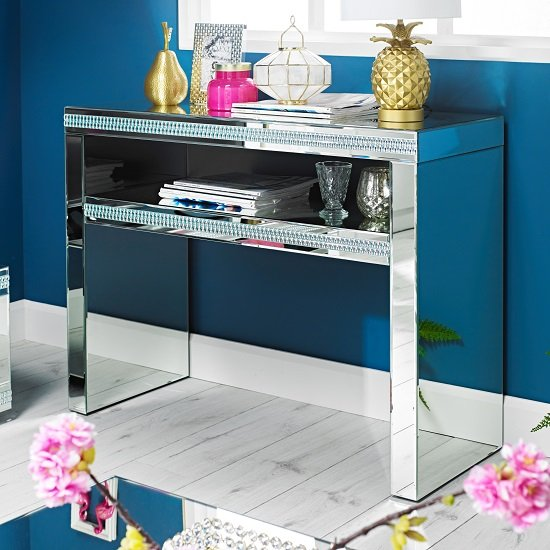 Milford Mirrored Rectangular Console Table