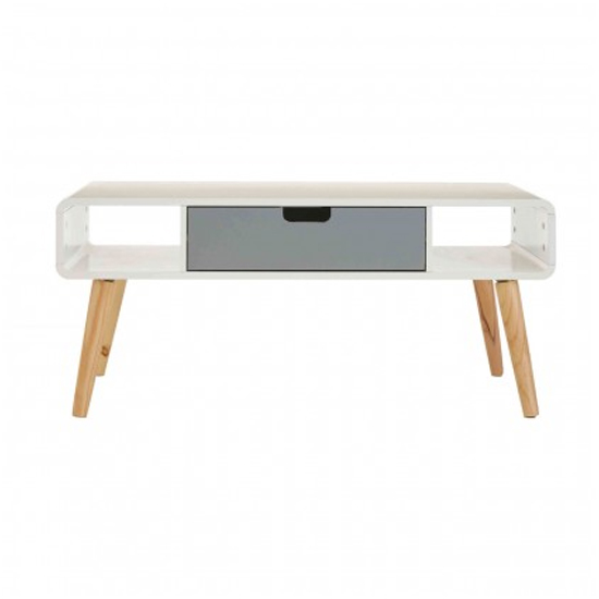Milova Wooden 1 Drawer Coffee Table In White And Grey_2