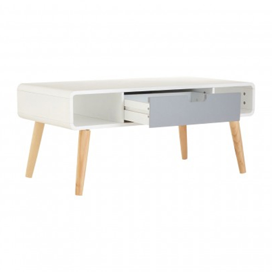 Milova Wooden 1 Drawer Coffee Table In White And Grey_3