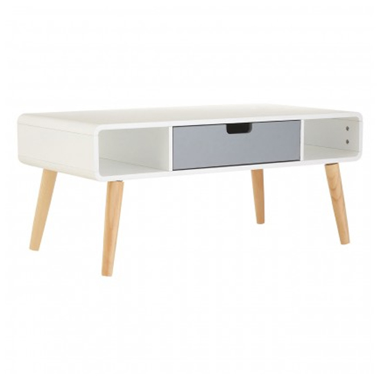 Milova Wooden 1 Drawer Coffee Table In White And Grey_1