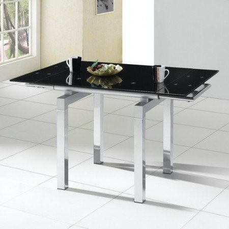 extendable black glass dining table 2