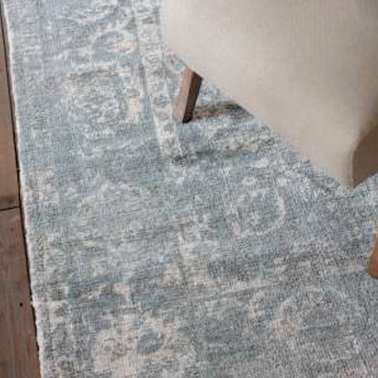Minott Extra Large Fabric Upholstered Rug In Dark Teal_3
