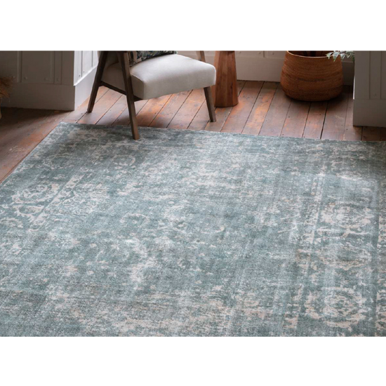 Minott Extra Large Fabric Upholstered Rug In Dark Teal_4