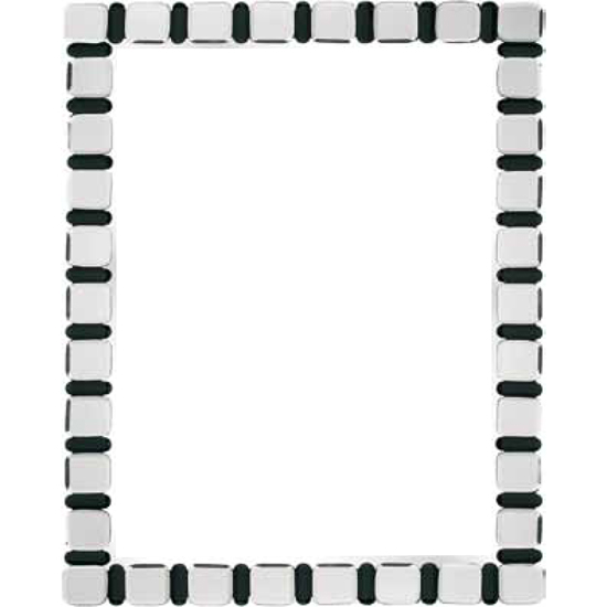 Bevelled Black and Clear Border Wall Mirror