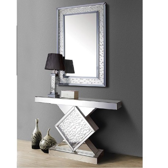 Tivoli Console Table In A Mirrored Bubbled Effect