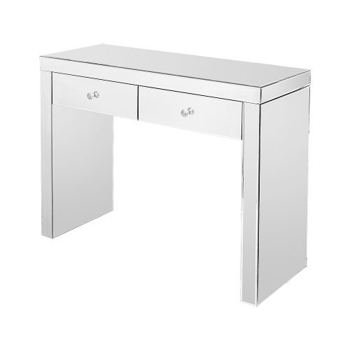 Rectangular Mirrored Console Table With 2 Drawer