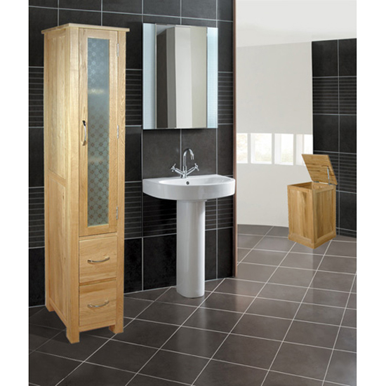 Artisan Oak Closed Bathroom Unit Tall