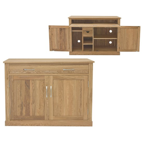 Artisan Hidden Home Office Computer Desk In Oak