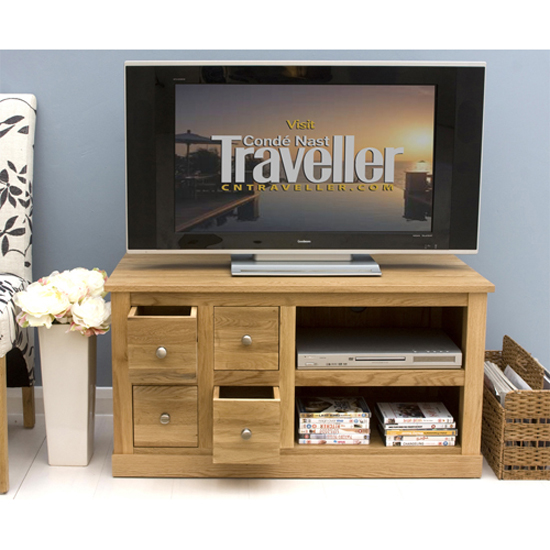 Artisan Television Cabinet In Oak With 4 Drawers