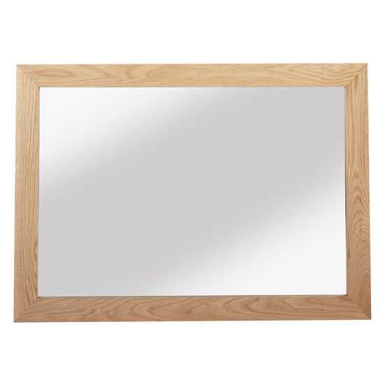 Modals Large Wall Bedroom Mirror In Light Solid Oak Frame