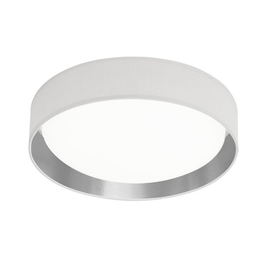 Modern 1 Light LED Flush Ceiling Light In Silver Shade