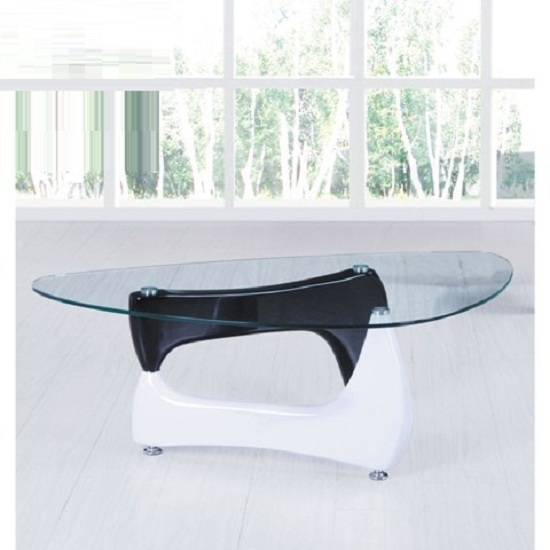 Toscana White High Gloss Coffee Table: White High Gloss End Table 8736 Furniture IN Fashion UK