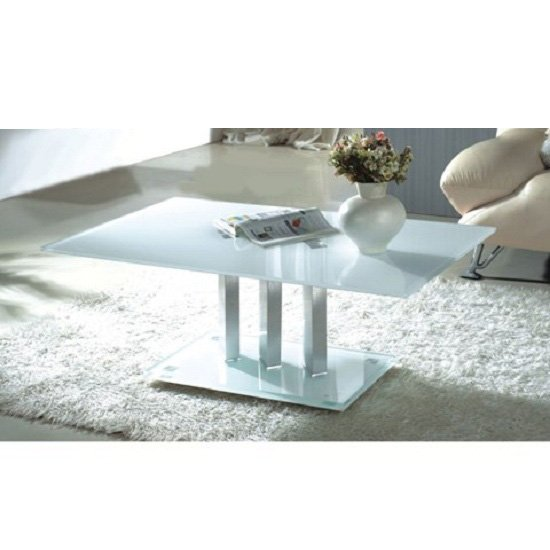 modern coffee table arcticWHCoffcs - 4 Variations Of A White Glass Coffee Table Set