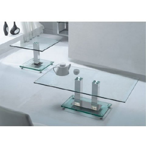 Ice Clear Glass Coffee Table