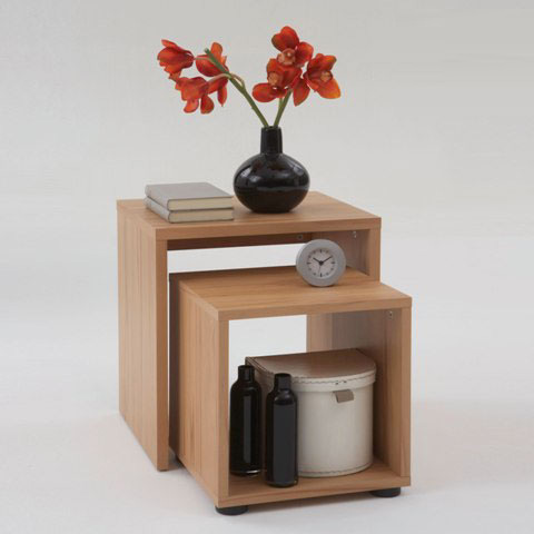 Duo Modern Nest of Tables In Heartwood