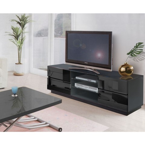 modern plasma tv stands black EH708 BL - Selecting Furniture For Apartment Living