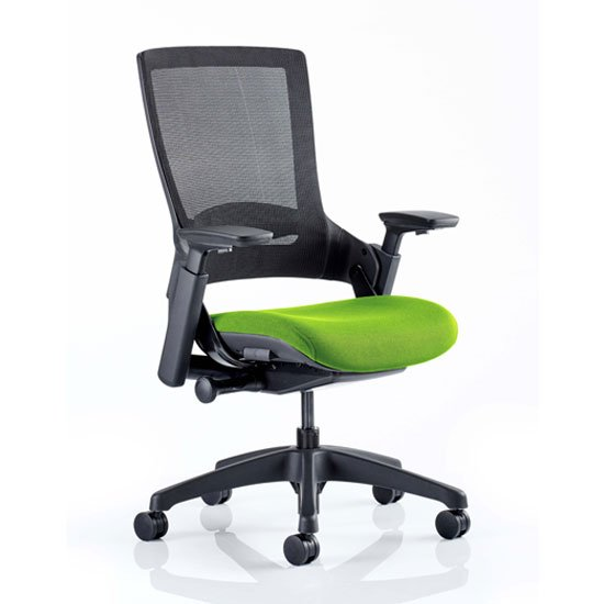 Molet Black Back Office Chair With Myrrh Green Seat
