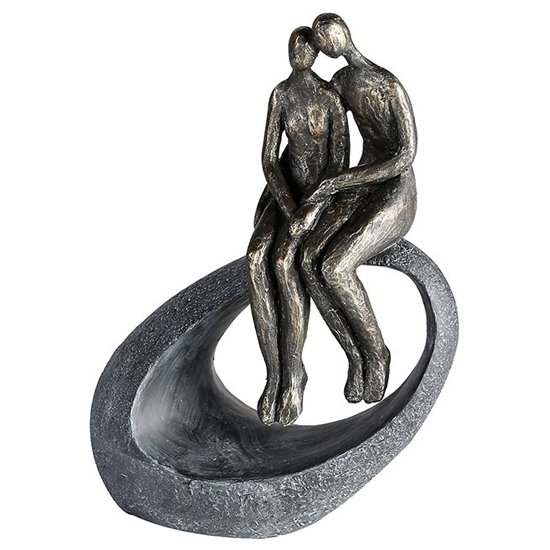 Moment Poly Design Sculpture In Antique Bronze And Grey_1