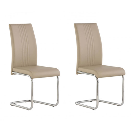 Monaco Stone PU Leather Dining Chair In A Pair