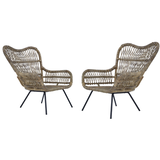 View Kalausi kubu rattan chair in pair