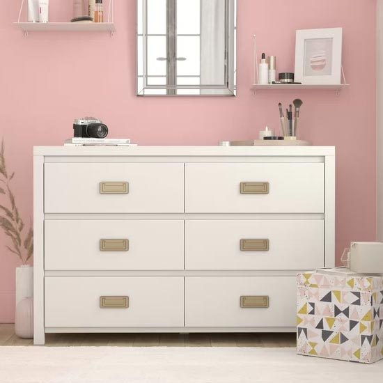 Monarch Hill Haven Chest OF Drawers In White With 6 Drawers