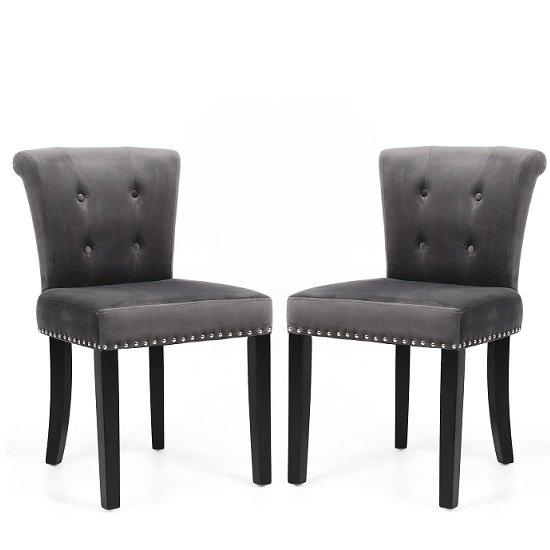 Monet Accent Chair In Brushed Velvet Grey In A Pair_1
