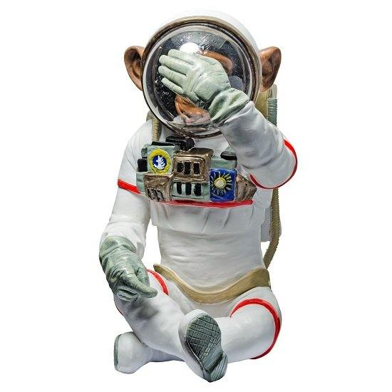 Monkey Astronaut Figurine See No Evil Resin Sculpture
