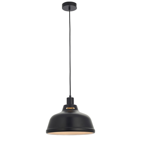 Mono Wall Hung Pendant In Light Black And White