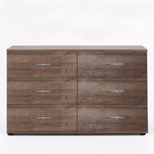 Monoceros Wooden Chest Of Drawers In Muddy Oak With 6 Drawers