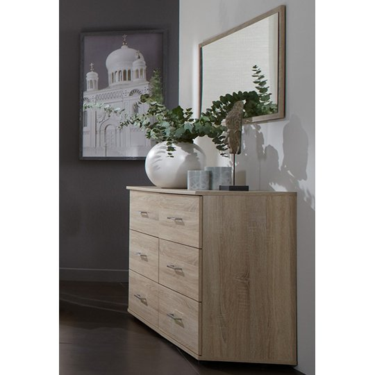 Monoceros Wooden Dressing Table In Oak With Mirror