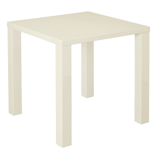 Monroe Curio Wooden Small Dining Table In Cream
