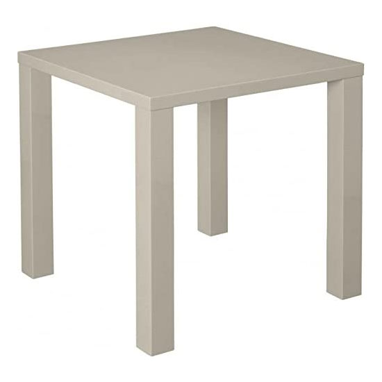 Monroe Curio Wooden Small Dining Table In Stone