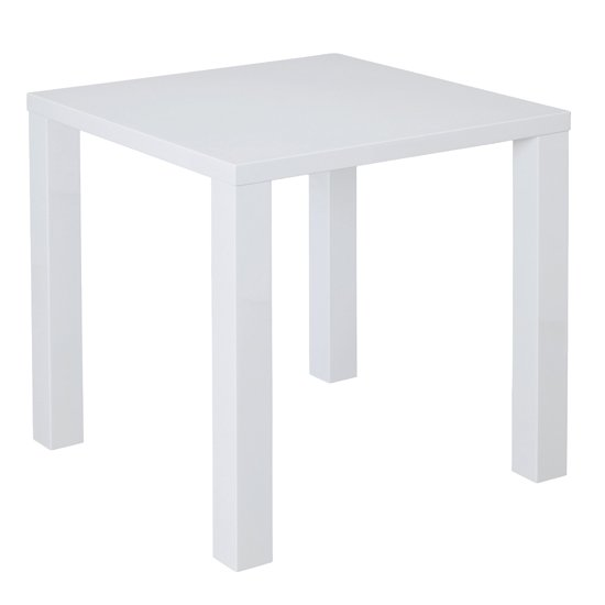 Monroe Curio Wooden Small Dining Table In White